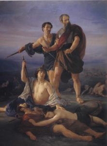 Death of King Saul by Elie Marcuse, 1848